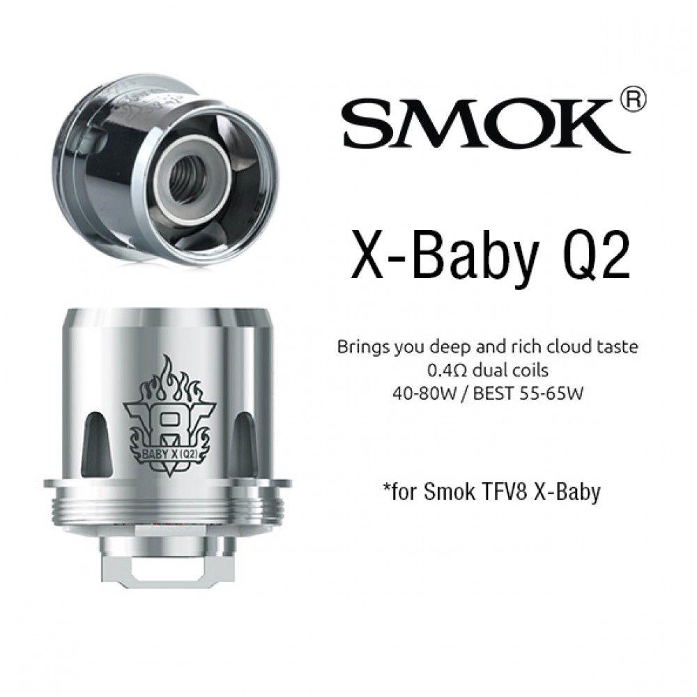 Heating Head X-Baby Q2 for Smok TFV8 X-BabyTank - 0,4 ohm Smoktech
