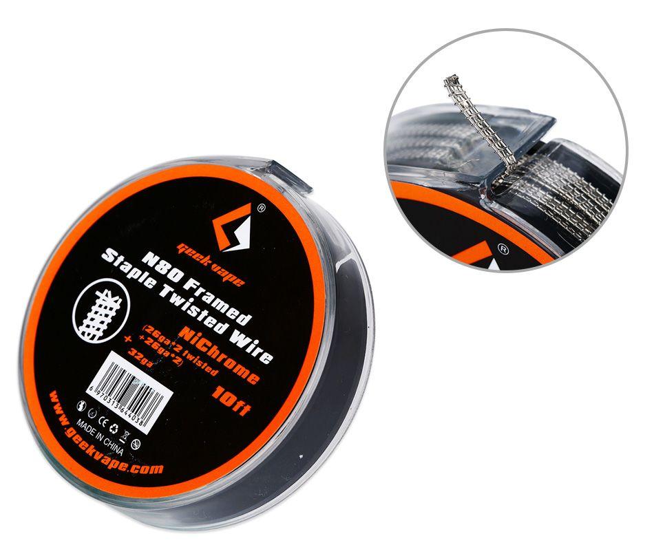 Geekvape N80 FRAMED STAPLE TWISTED wire (26GA*2 TWISTED + 26GA*2) + 32GA, 3m