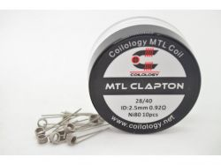 Coilology MTL CLAPTON Prebuilt Coils Ni80 28GA/40GA, 0,92Ω, 10pcs