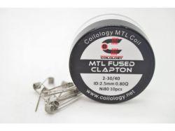 COILOLOGY PREBUILT COILS MTL FUSED CLAPTON NI80, 10pcs