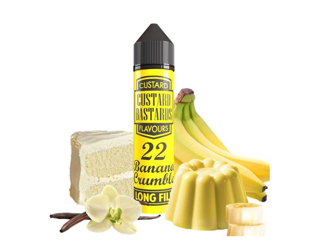 Custard Bastards No.22 BANANA CRUMBLE- shake&vape Flavormonks 12 ml