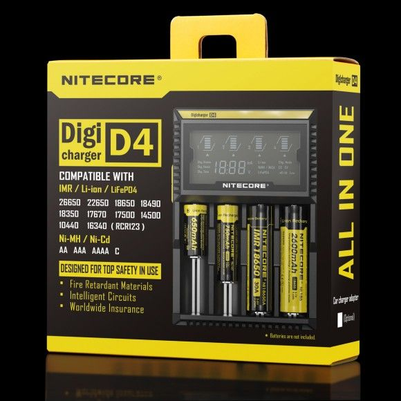 Nitecore D4 charger with display - 4 slots SYSMAX Industry Co., Ltd.