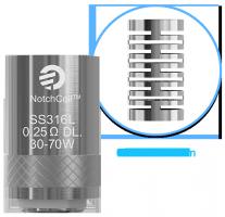 show detail - Joyetech Heating Head NotchCoil DL 0,25 ohm for Cubis, eGo AIO