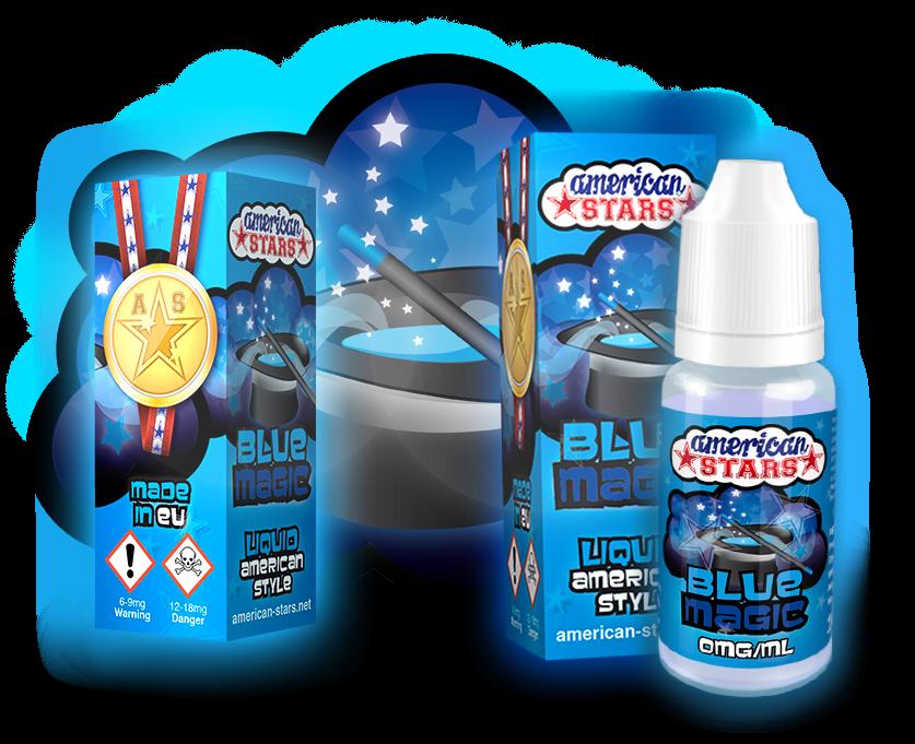 BLUE MAGIC - e-liquid American Stars 10ml Flavourtec
